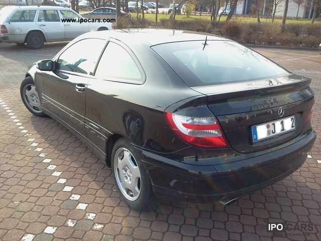 2005 mercedes-benz c 180 kompressor sports coupe - car photo and specs