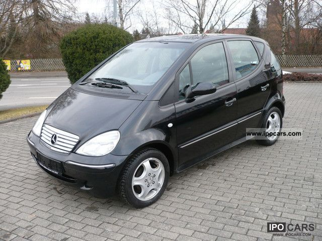 2001 mercedes benz a 160 avantgarde climate and leather car photo and specs. Black Bedroom Furniture Sets. Home Design Ideas
