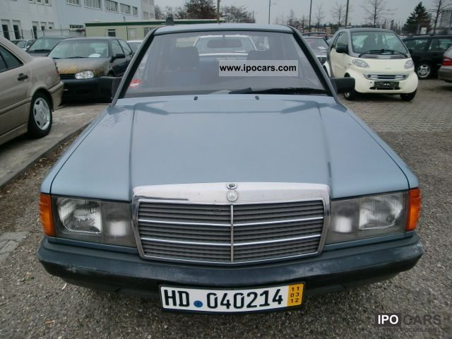 1987 Mercedes-Benz  190D 2.5, euro2, automatic, sunroof Limousine Used vehicle photo