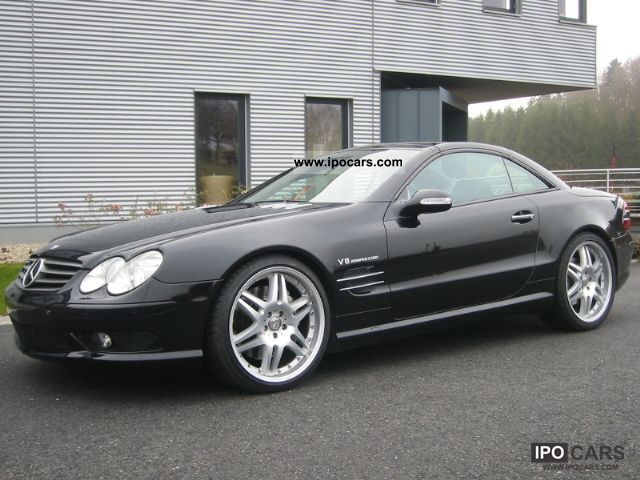 2003 Mercedes Benz Sl 55 Amg Black Black Full Equipment When New Car Photo And Specs