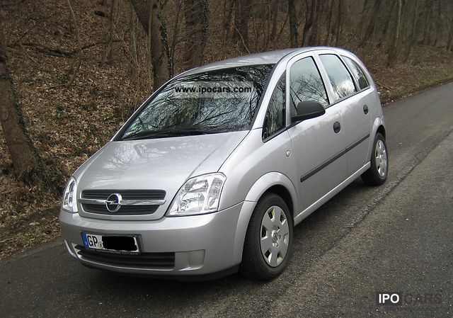2004 opel meriva 1 6 car photo and specs. Black Bedroom Furniture Sets. Home Design Ideas