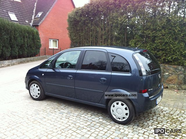 2007 opel meriva 1 6 16v car photo and specs. Black Bedroom Furniture Sets. Home Design Ideas