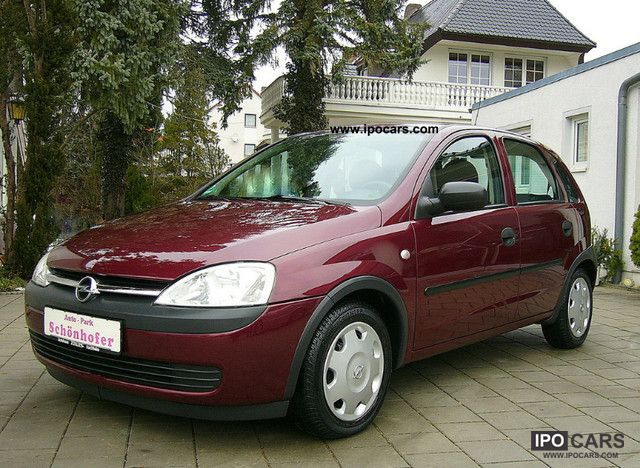 2003 Opel  Corsa 1.2 16V 4-trg.Klima, EFH, ZV, SV, 1.Hand Small Car Used vehicle photo