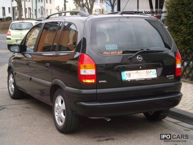 2001 opel zafira 2 2 selection executive car photo and specs. Black Bedroom Furniture Sets. Home Design Ideas