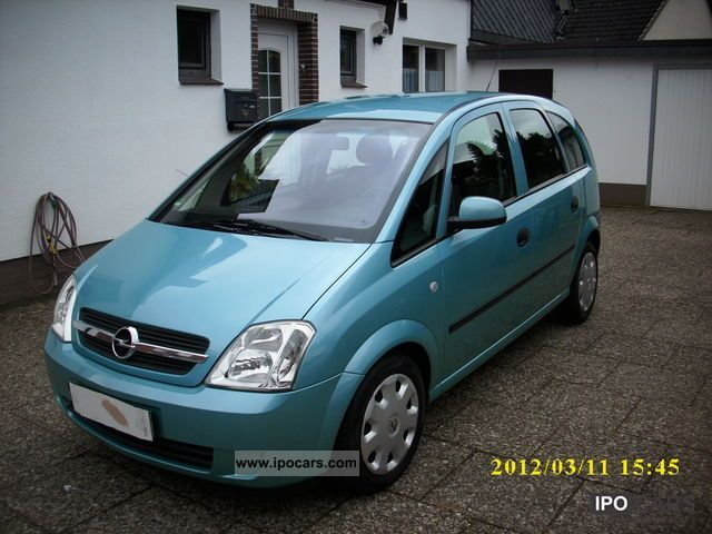 2004 opel meriva 1 7 cdti enjoy car photo and specs. Black Bedroom Furniture Sets. Home Design Ideas