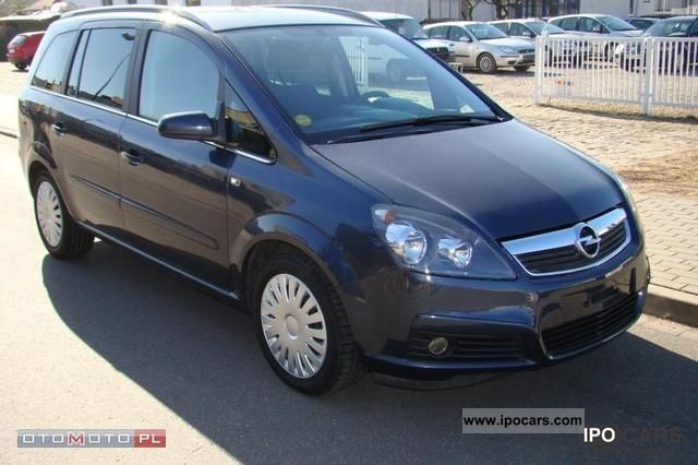 2006 opel zafira 1 9 cdti elegance 7os b car photo and specs. Black Bedroom Furniture Sets. Home Design Ideas