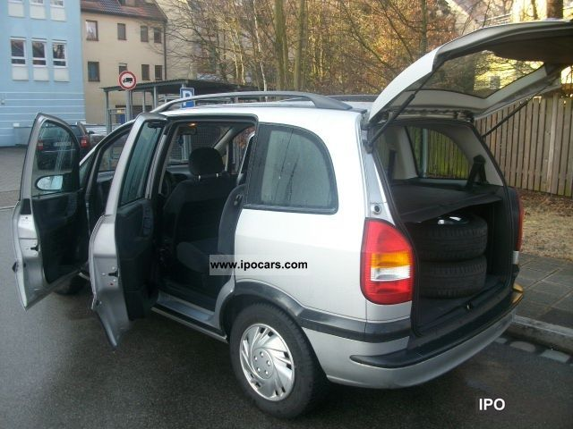 2001 opel zafira 1 6 selection 1 hand car photo and specs. Black Bedroom Furniture Sets. Home Design Ideas