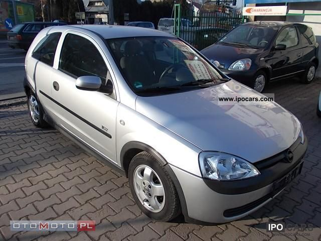 2003 opel corsa car photo and specs. Black Bedroom Furniture Sets. Home Design Ideas