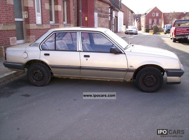 1986 opel ascona c gl car photo and specs. Black Bedroom Furniture Sets. Home Design Ideas