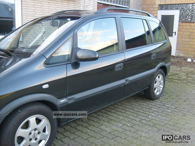 2002 opel zafira 2 0 dti elegance car photo and specs. Black Bedroom Furniture Sets. Home Design Ideas