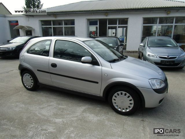 2002 opel corsa c 1 2 16v 1 hand selection euro4 car photo and specs. Black Bedroom Furniture Sets. Home Design Ideas