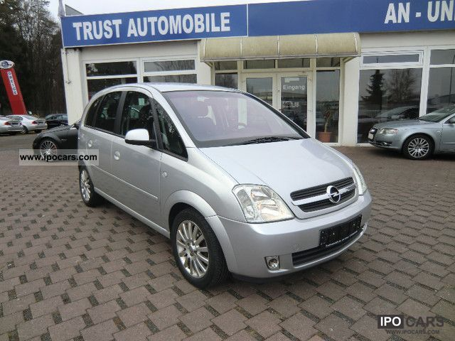 2004 opel meriva 1 4 air 67tkm checkbook car photo and specs. Black Bedroom Furniture Sets. Home Design Ideas