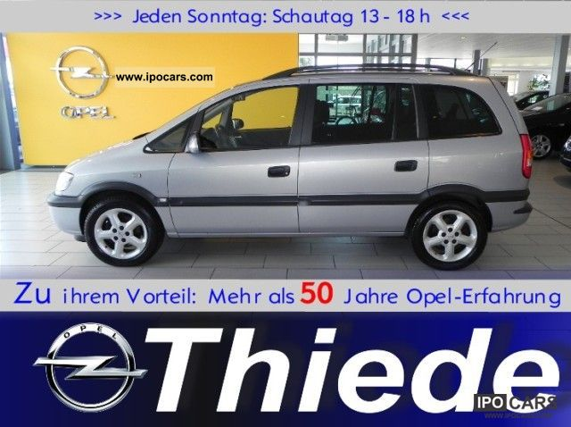 2002 opel zafira a selection 2 0dti air alu cd car photo and specs. Black Bedroom Furniture Sets. Home Design Ideas