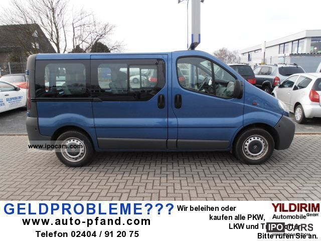 2005 opel vivaro 1 9 diesel 8 seats 121 721 km euro 3 car photo and specs. Black Bedroom Furniture Sets. Home Design Ideas