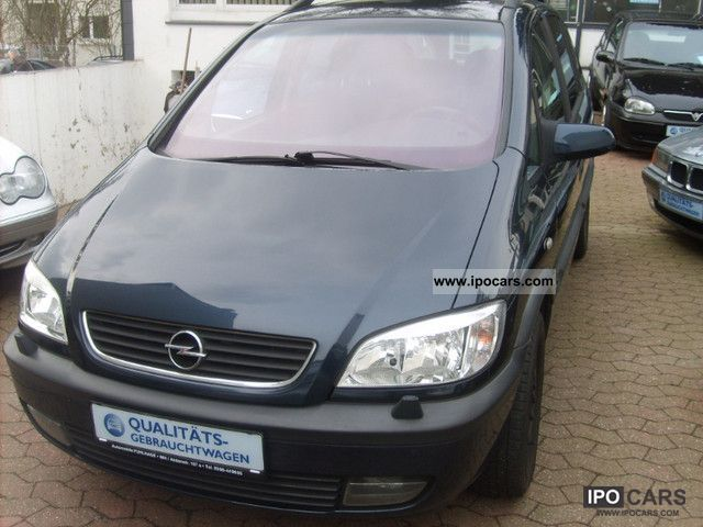2002 opel zafira 2 2 selection executive 2 hand 7 seater car photo and specs. Black Bedroom Furniture Sets. Home Design Ideas
