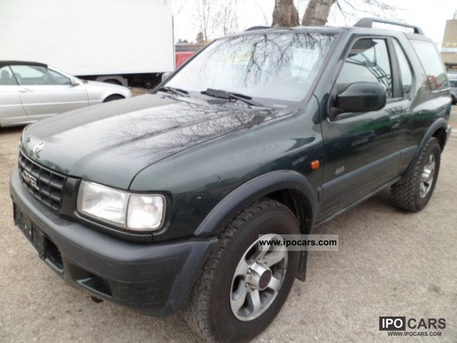 2001 opel frontera 2 2 sport air conditioning car photo and specs. Black Bedroom Furniture Sets. Home Design Ideas
