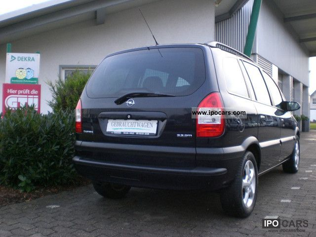 2003 opel zafira 2 2 dti elegance car photo and specs. Black Bedroom Furniture Sets. Home Design Ideas