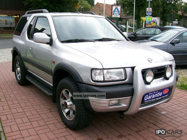 2001 opel frontera sport 2 2 cool climate apc 4x4 car photo and specs. Black Bedroom Furniture Sets. Home Design Ideas