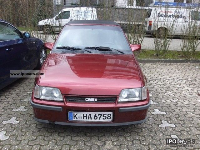 1990 opel gsi kadett e 2 0i convertible   car photo and specs