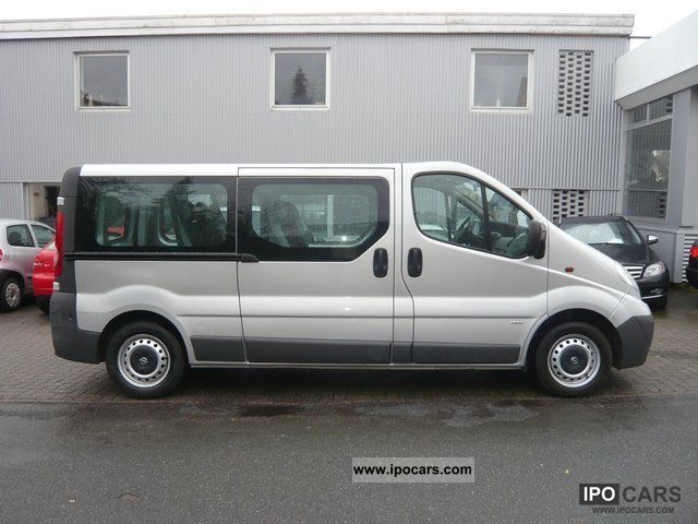 2008 opel vivaro 2 0 cdti long version 9 seater climate car photo and specs. Black Bedroom Furniture Sets. Home Design Ideas