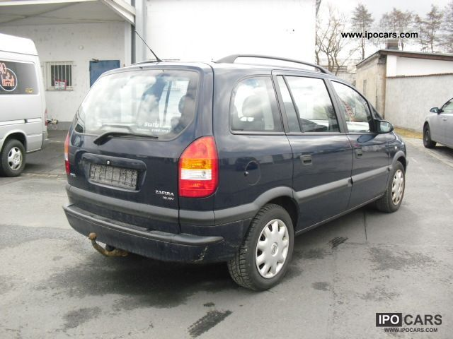 2002 opel zafira 1 6 selection air conditioning car photo and specs. Black Bedroom Furniture Sets. Home Design Ideas