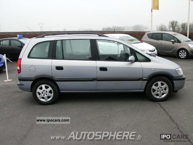 2002 opel zafira ph1 1 6 16v elegance car photo and specs. Black Bedroom Furniture Sets. Home Design Ideas