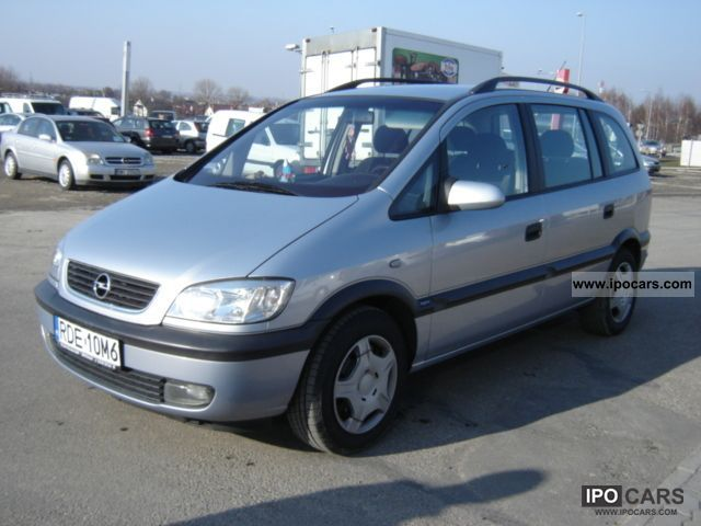 2002 opel zafira 2 0 dti 101km 7 bedded car photo and specs. Black Bedroom Furniture Sets. Home Design Ideas
