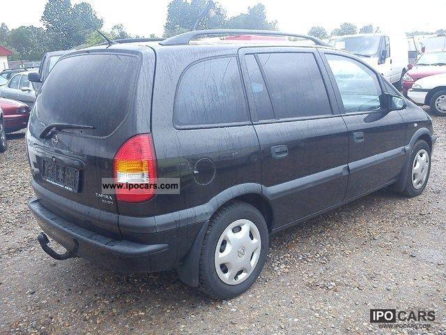 2002 opel zafira 2 0 dti 16v comfort flex ivan car photo and specs