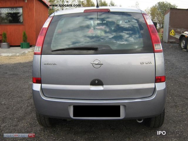 2004 opel meriva car photo and specs. Black Bedroom Furniture Sets. Home Design Ideas