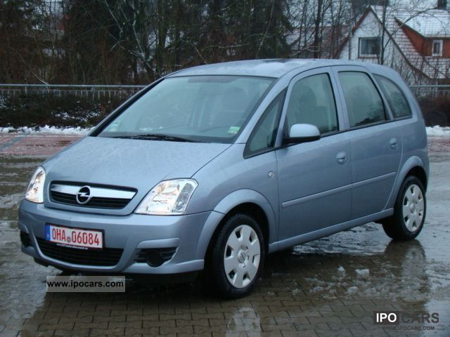 2008 opel meriva 1 6 16v 1 hand air conditioning car photo and specs. Black Bedroom Furniture Sets. Home Design Ideas