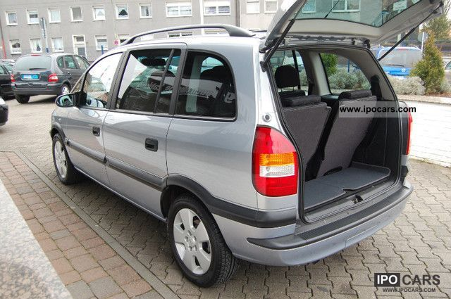 2002 opel zafira 2 2 selection executive car photo and specs. Black Bedroom Furniture Sets. Home Design Ideas