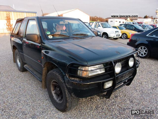 1995 opel frontera sport soft top ahk air crash protection gsd car photo and specs. Black Bedroom Furniture Sets. Home Design Ideas