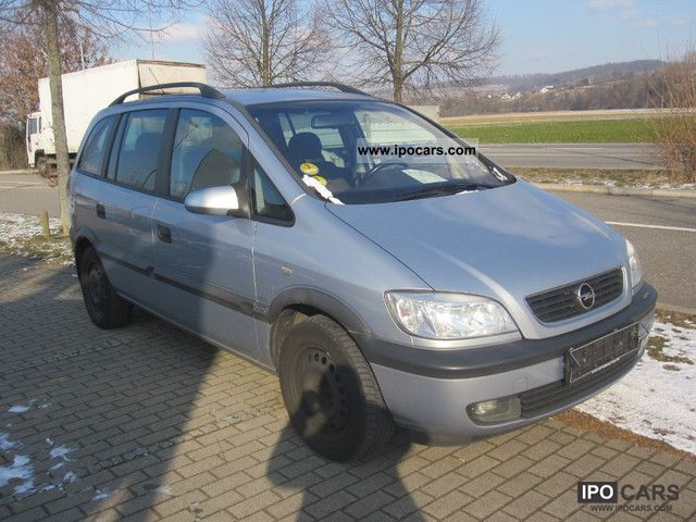 2002 opel zafira 2 0 dti car photo and specs. Black Bedroom Furniture Sets. Home Design Ideas