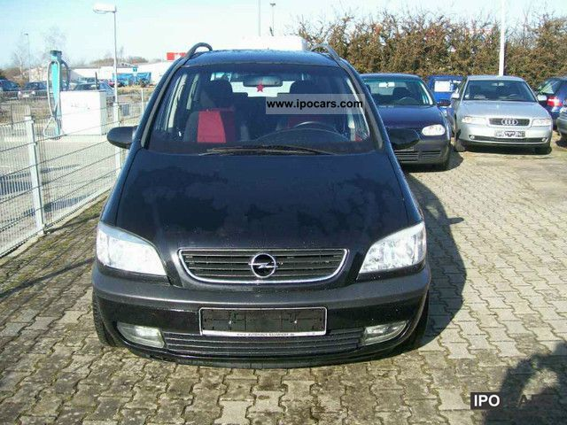 2002 opel zafira 2 2 selection car photo and specs. Black Bedroom Furniture Sets. Home Design Ideas