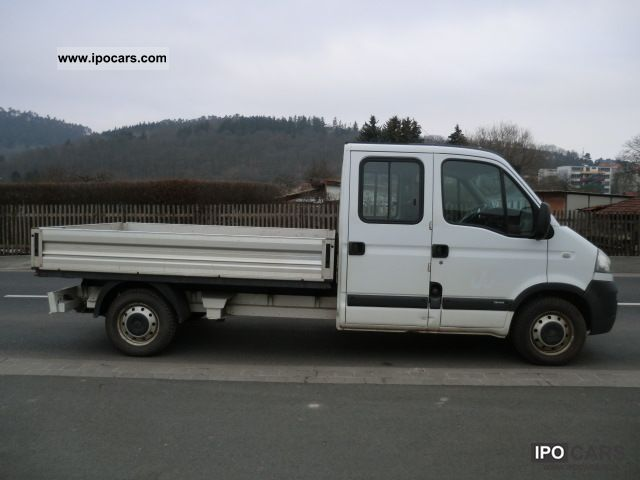 2007 opel movano 2 5 cdti double cab flatbed 7 seats. Black Bedroom Furniture Sets. Home Design Ideas