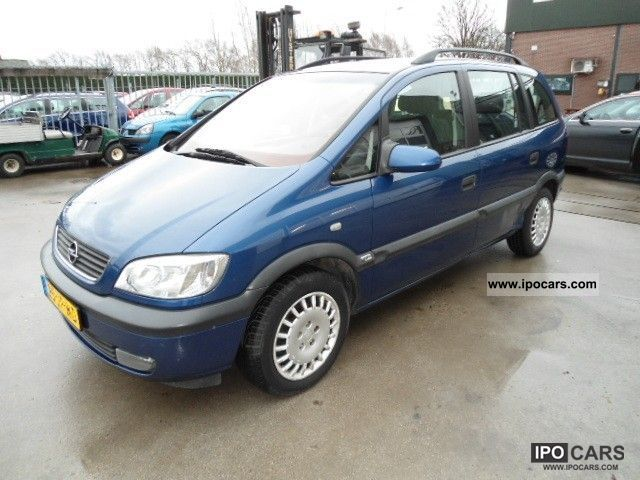 2002 opel zafira 2 2 16v elegance car photo and specs. Black Bedroom Furniture Sets. Home Design Ideas