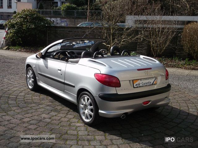 2002 peugeot 206 cc 135 platinum only car photo and specs. Black Bedroom Furniture Sets. Home Design Ideas