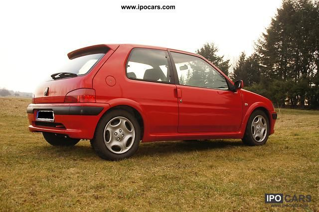 2000 peugeot 106 sport car photo and specs. Black Bedroom Furniture Sets. Home Design Ideas
