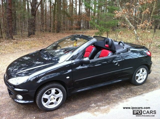 2003 peugeot 206 cc 135 platinum car photo and specs. Black Bedroom Furniture Sets. Home Design Ideas
