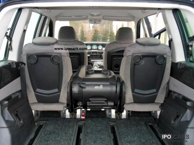 Foldable Car Seat >> 2005 Peugeot 807 HDi 130 Tendance - Car Photo and Specs