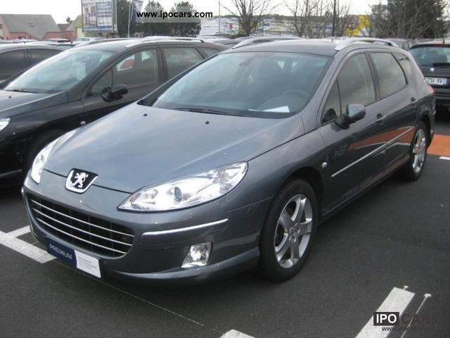 2009 peugeot 407 sw hdi 136 premium pack car photo and specs. Black Bedroom Furniture Sets. Home Design Ideas