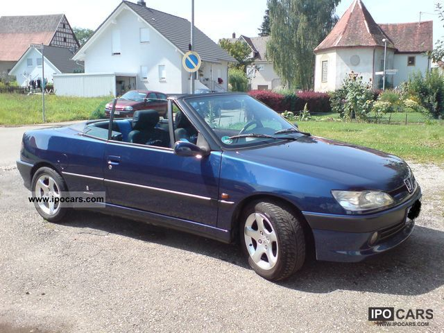 1997 peugeot 306 cabriolet 2 0 car photo and specs. Black Bedroom Furniture Sets. Home Design Ideas