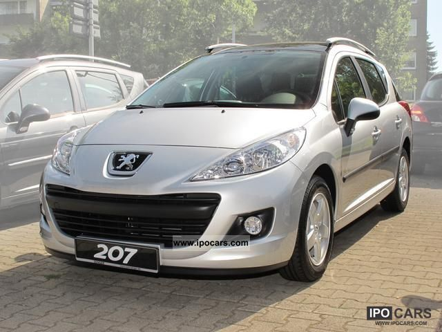 2011 peugeot 207 sw 95 vti tendance panoramic roof car photo and specs. Black Bedroom Furniture Sets. Home Design Ideas