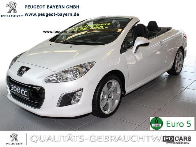 2012 Peugeot  308 CC HDi Allure Leather Cruise SHZ 165 * PDC * Cabrio / roadster Demonstration Vehicle photo