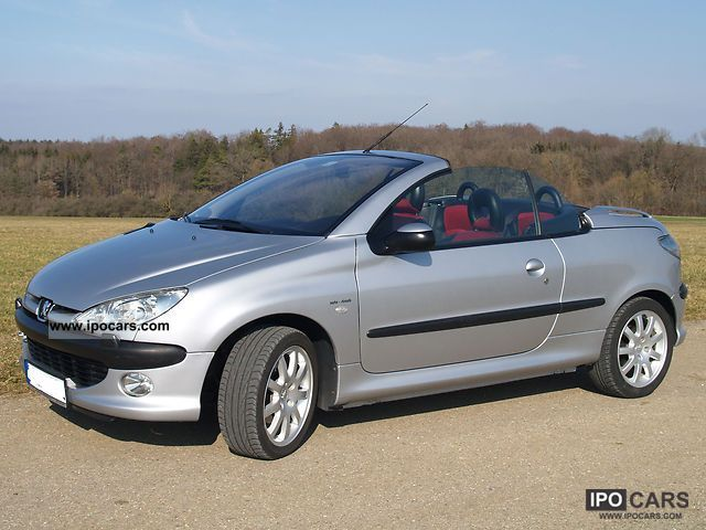 2000 peugeot 206 cc 135 platinum car photo and specs. Black Bedroom Furniture Sets. Home Design Ideas