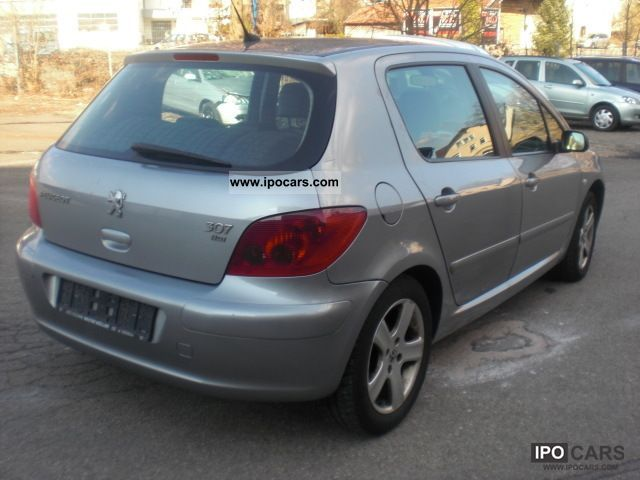 2001 peugeot 307 hdi 110 vollaust leather climate control car photo and specs. Black Bedroom Furniture Sets. Home Design Ideas