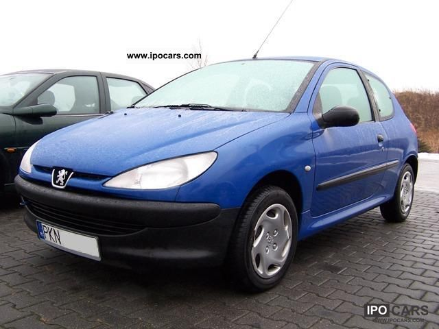 2000 peugeot 206 1 1 car photo and specs. Black Bedroom Furniture Sets. Home Design Ideas
