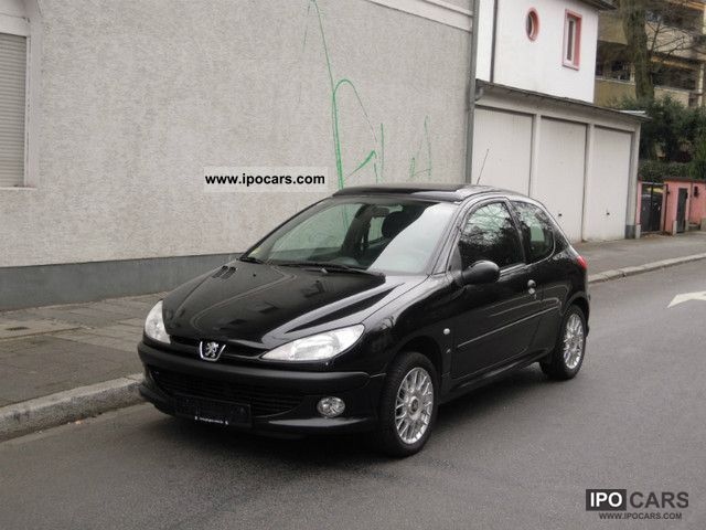2000 peugeot 206 hdi 90 xs el glasdach car photo and specs. Black Bedroom Furniture Sets. Home Design Ideas