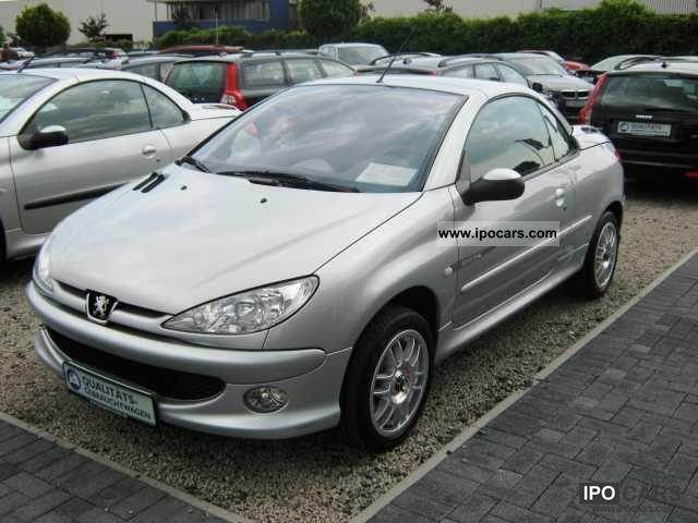 2004 peugeot 206 cc 1.6 16v quiksilver 110 - car photo and specs