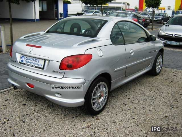 2004 peugeot 206 cc 1 6 16v quiksilver 110 car photo and specs. Black Bedroom Furniture Sets. Home Design Ideas